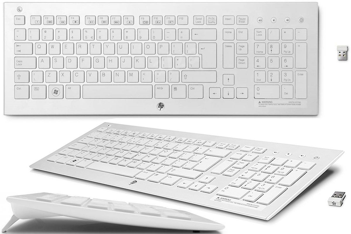 HP Wireless K5510 Keyboard H4J89AA White USB