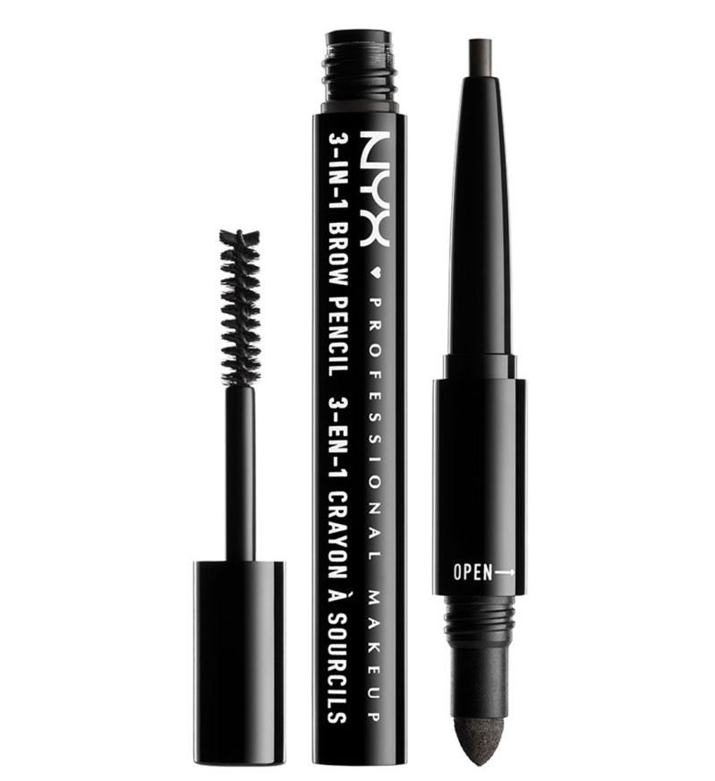 NYX Professional Makeup Cosmetics 3-in-1 Brow Pencil